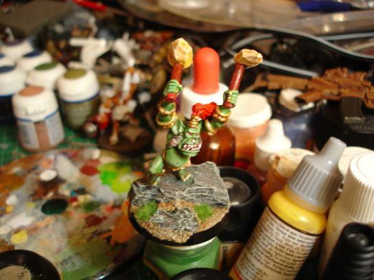 Warhammer Citadel Savage Orc Hero WIP