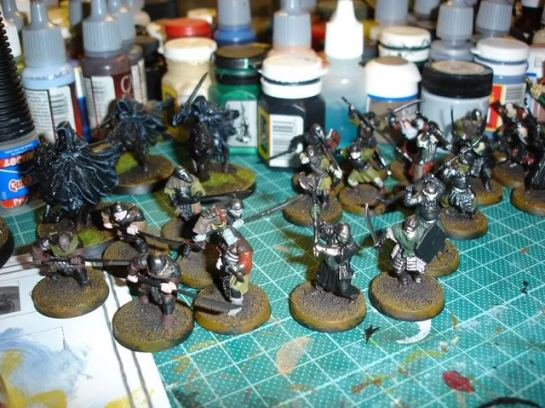 Citadel Lord of the Rings SBG Orcs, Mounted Ringwraiths WIP