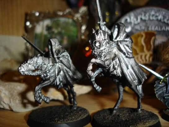 Citadel Lord of the Rings SBG Mounted Ringwraiths, Witch King WIP