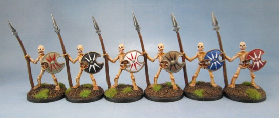 Reaper Bones 77001 Skeletal Spearmen