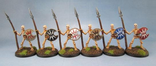 Reaper Bones 77001 Skeletal Spearmen