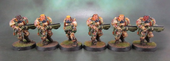 Metal Dark Angel Space Marine Scouts with Shotguns