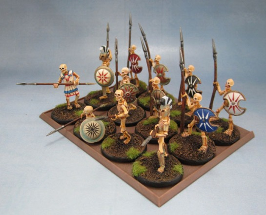 Wargames Foundry Mythical Greek Skeletons with Spears, Wargames Factory Skeletons, Warlord Games Skeletons, Reaper Bones Skeletons