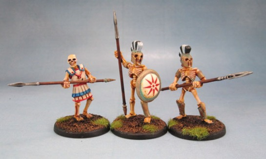 Wargames Foundry Mythical Greek Skeletons with Spears