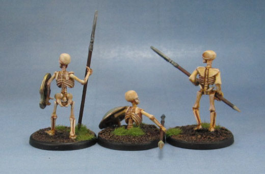 Wargames Foundry Mythical Greek Skeletons with Spears, Wargames Factory Skeletons, Warlord Games Skeletons