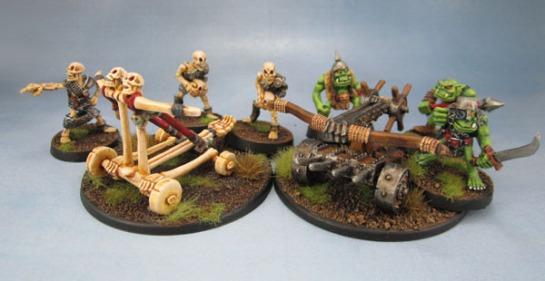 MD8 Undead Skull Chucker/Screaming Skull Catapult, C22 Orc Bolt Thrower Oldhammer