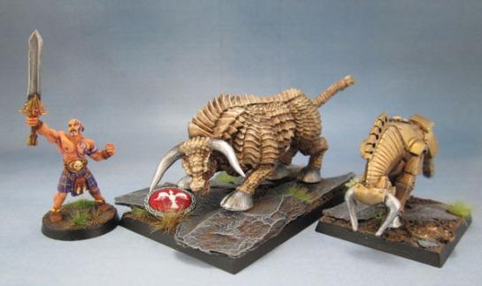 Wargames Foundry Bronze Bull, Reaper Bones 77256: Brass Bull