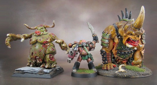 Oldhammer Great Unclean One, Plague Marine, Chronopia Devout Tormented