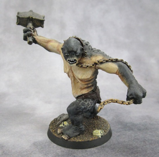 Citadel Lord of the Rings SBG Moria Cave Troll with chain and hammer