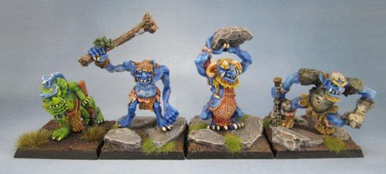 C20 Marsh Troll, Hill Troll, Cave Troll, Warrior Troll