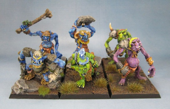 C20 Swamp Troll, C20 Cave Troll, C20 Hill Troll, C20 Warrior Troll, Blood Bowl Trolls (1988)