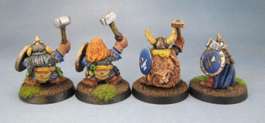 Oldhammer Citadel Norse Dwarfs Dwarves. Marauder Miniatures Shields, Sven Hasselfriesian, The Magnificent Sven