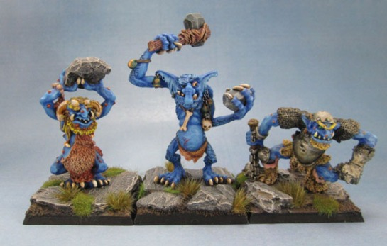 C20 Cave Troll, Stone Troll with Club and C20 Warrior Troll