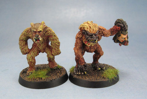 Citadel C18 Night Horrors - Werebear and Ape Man