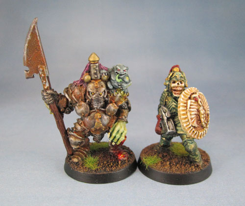 Citadel Realm of Chaos: Nurgle Champion with Halberd, C35 Undead Warrior of Chaos