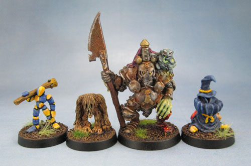 Warhammer Oldhammer Ch5 Chaos Familiars, Manequin, Beastling Chaos Champion of Nurgle with Halberd