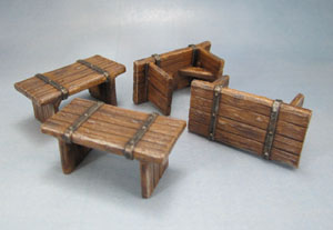 Mantic Games Dungeon Saga Scenery Benches