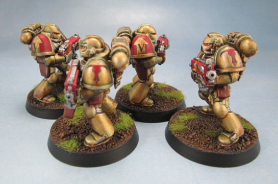 Minotaurs Space Marines - 2nd Edition and 5th Edition starter Marines.