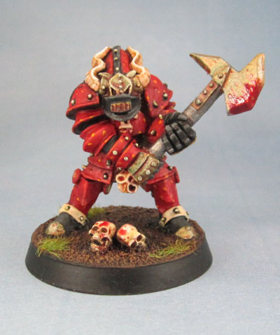 Realm of Chaos Oldhammer Chaos Warrior Champion of Khorne, Mark Copplestone.