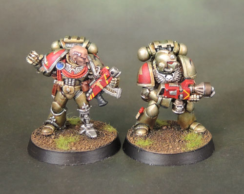 Citadel Space Marine Veteran Captain Flamer Marine Rogue Trader 40k2e Oldhammer