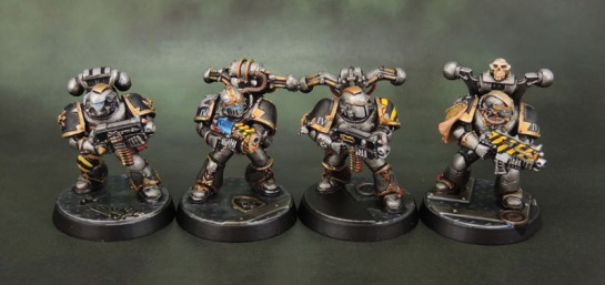 Kitbashed Iron Warriors Chaos Space Marines