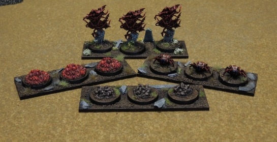 Swarms for Kings of War - models by Reaper Bones.