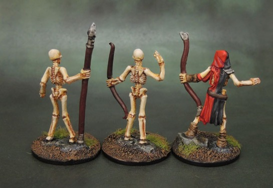 Reaper Bones 77244 Skeleton Warrior Spearman, 77237 Skeleton Guardian Archer, 77245 Skeleton Warrior Archer