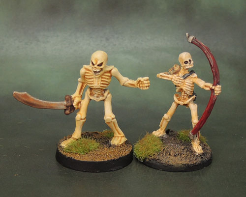 Reaper Bones Skeleton Archer, Dark World Skeleton Warrior