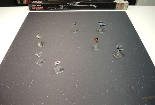 Fantasy Flight's X-Wing Starfield 3x3 Mat.