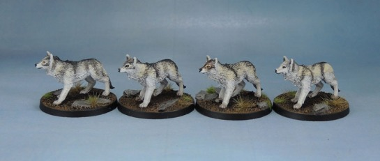 Monolith Games Conan board game Giant Wolves