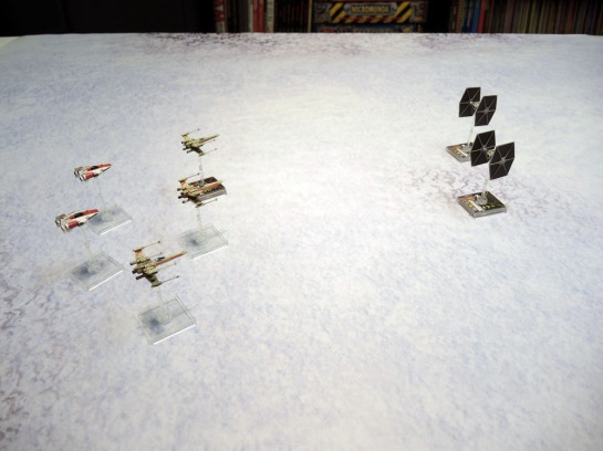 Urbanmatz' 6'x4' Snow Territory Game Mat. Star Wars X-Wing