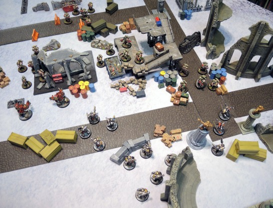 Urbanmatz' 6'x4' Snow Territory Game Mat. Warhammer 40,000, 40k, Kill Team