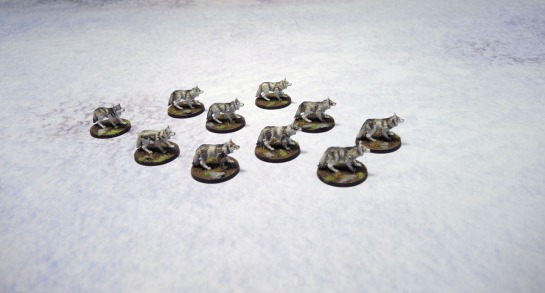 Urbanmatz' 6'x4' Snow Territory Game Mat. Wolfpack