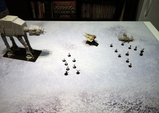 Urbanmatz' 6'x4' Snow Territory Game Mat. Star Wars Miniatures