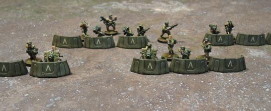 Sedition Wars Terrain Set Barricades, Metal Cadian Shock Troops, Imperial Guard, Astra Militarum