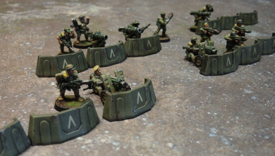 Sedition Wars Terrain Set Barricades, Metal Cadian Shock Troops, Imperial Guard, Astra Militarum