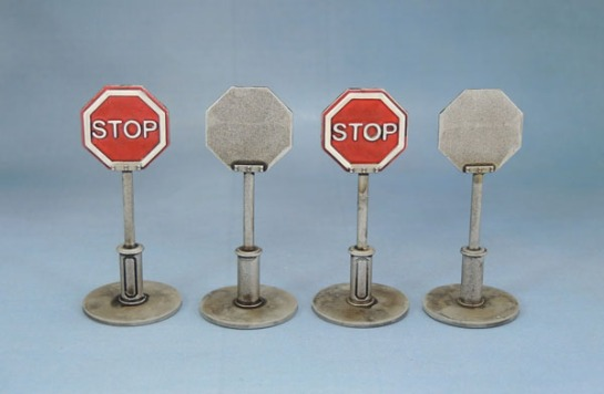 Mantic Mars Attacks Accessory Scenery Stop Sign 28mm Wargaming
