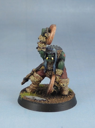 RR18 – Eeza Ugezod's Mother Crushers' Standard and Musician (Nick Lund, 1985), Oldhammer Citadel Miniatures