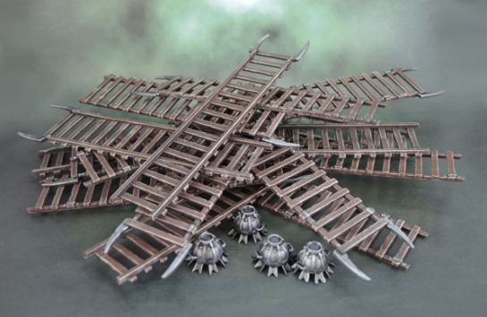 Uruk-Hai Siege Ladders and Siege Bombs