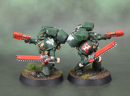 Dark Angels Space Marine Assault Squad, 40k Second Edition, Plasma Pistol