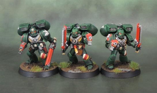 Dark Angels Space Marine Assault Squad, 40k Second Edition