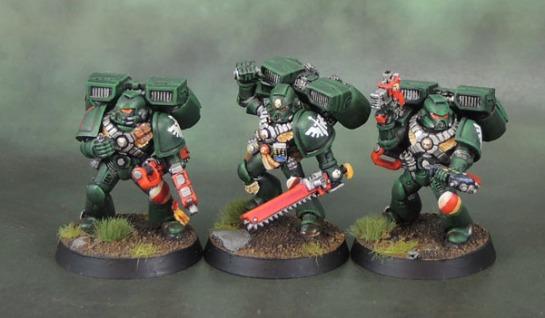 Dark Angels Space Marine Assault Squad, 40k Third Edition