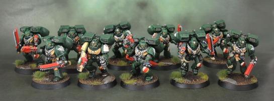 Dark Angels Space Marine Assault Squad.