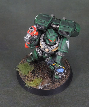 Dark Angels Space Marine Assault Squad, 40k Third Edition