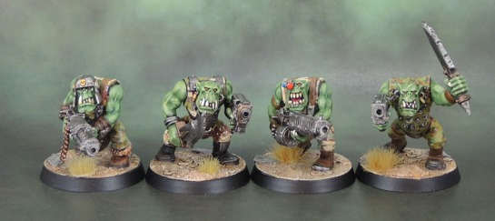 Warhammer 40k Ork Slugga and Big Shoota Boyz
