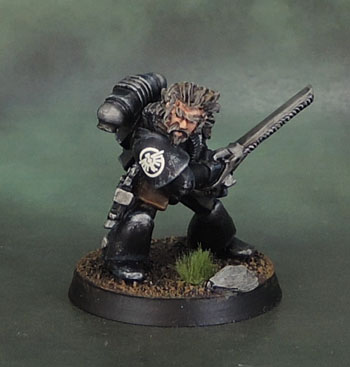 "C100 Space Marines ""Capt. Huron Grimm"", Fallen Dark Angel - 40k Rogue Trader (1988), Oldhammer"