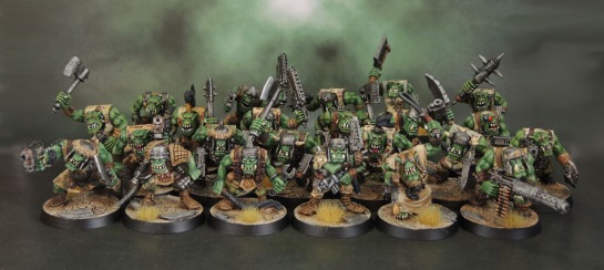 Rogue Trader-era Kev Adams Space Orks, Oldhammer, Brian Nelson 40k Slugga Boyz