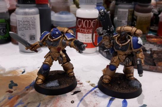 Celestial Lions Primaris Lieutenant Space Marines WIP