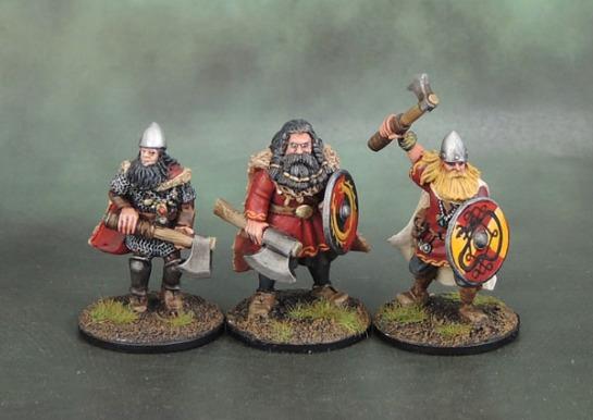 Wargames Foundry VIK056 - Svavas Warrior Heroes Big Bragi, Dvalin Hardaxe, Stealthy Elbegast