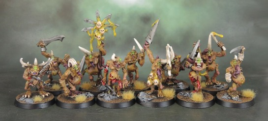 2nd Wave Plaguebearers of Nurgle 1995/6, 3rd Wave Warhammer Plaguebearers of Nurgle 2001, 3.5 Wave Warhammer Plaguebearers of Nurgle Command 2007